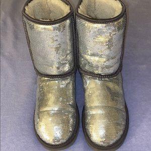 Silver Glitter Short UGG